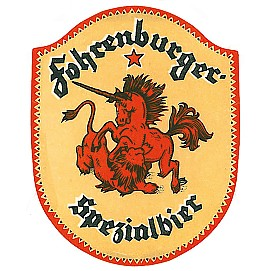 Altes Etikett Fohrenburger Bier